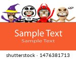 halloween party. group of kids... | Shutterstock .eps vector #1476381713