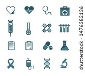 medical icons on white... | Shutterstock .eps vector #1476382136