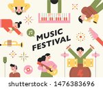 cute colored characters are... | Shutterstock .eps vector #1476383696