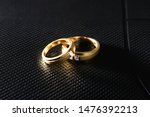 diamond and rings wedding on... | Shutterstock . vector #1476392213