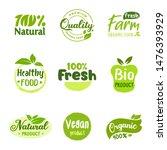 organic vector logo or sign... | Shutterstock .eps vector #1476393929