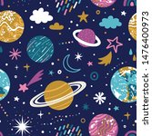 vector space seamless pattern... | Shutterstock .eps vector #1476400973