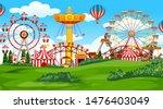 fun fair amusement park in...   Shutterstock .eps vector #1476403049