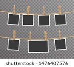 photo card frame rope hanging... | Shutterstock .eps vector #1476407576