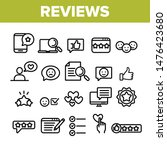 collection reviews thin line... | Shutterstock .eps vector #1476423680