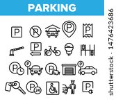 collection parking thin line... | Shutterstock .eps vector #1476423686