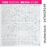 large set of media  social... | Shutterstock .eps vector #1476429149