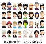 set of people avatars  icons in ... | Shutterstock .eps vector #1476429176
