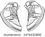 sneakers shoes pair isolated.... | Shutterstock .eps vector #1476432800