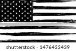 grunge usa flag with a thin... | Shutterstock .eps vector #1476433439