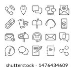 contact us icon. contact and... | Shutterstock .eps vector #1476434609