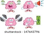 brain cartoon mascot collection ... | Shutterstock .eps vector #147643796