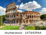Colosseum In Rome  Italy. Roma...