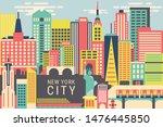 vector illustration the city of ...   Shutterstock .eps vector #1476445850