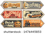 halloween signs collection....   Shutterstock .eps vector #1476445853