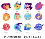 zodiac sign set. collection of... | Shutterstock .eps vector #1476451166