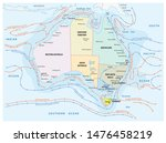map of the sea and coastal... | Shutterstock . vector #1476458219