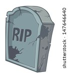 tombstone on a white background | Shutterstock .eps vector #147646640