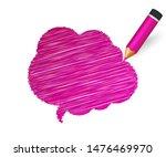 hand drawn speech bubble paint... | Shutterstock .eps vector #1476469970