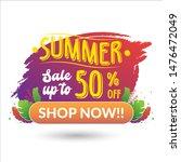 summer sale banner. sale tag....