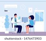 patient in doctor office.... | Shutterstock .eps vector #1476473903