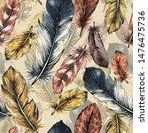 Seamless Pattern Of Bird...
