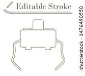 Micro Button Icon. Editable Stroke Simple Design. Vector Illustration.