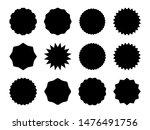 starburst promo badges. black... | Shutterstock .eps vector #1476491756
