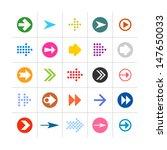 25 arrow sign icon set 02....