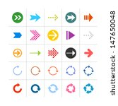 25 arrow sign icon set 03....