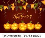 lettering happy halloween with...   Shutterstock .eps vector #1476510029