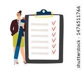 Businesswoman And Checklist....