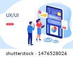 ux   ui design concept with...