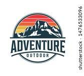 mountain logo monogram style  ... | Shutterstock .eps vector #1476533096
