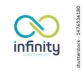 infinity logo template. blue...   Shutterstock .eps vector #1476536180