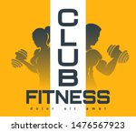 colorful fitness club emblem....   Shutterstock .eps vector #1476567923