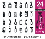 detergent bottle vector icon set | Shutterstock .eps vector #1476580946
