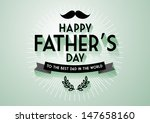 father's day greeting template vector/illustration - stock vector