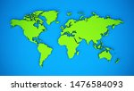 colored 3d world map theme... | Shutterstock . vector #1476584093