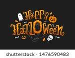 happy halloween vector... | Shutterstock .eps vector #1476590483