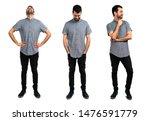 set of handsome man standing...   Shutterstock . vector #1476591779