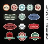 set of retro vintage badges and ... | Shutterstock .eps vector #147659294