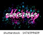 merry christmas lettering with...   Shutterstock . vector #1476599609
