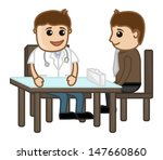 medical counseling   cartoon... | Shutterstock .eps vector #147660860