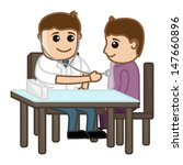 doctor check up patient  ... | Shutterstock .eps vector #147660896