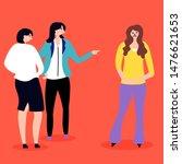 harassment in the work team.... | Shutterstock .eps vector #1476621653