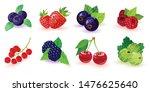 big set of summer ripe berries... | Shutterstock .eps vector #1476625640