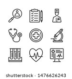 medical exam line icons. health ... | Shutterstock .eps vector #1476626243