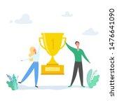 team success vector concept... | Shutterstock .eps vector #1476641090