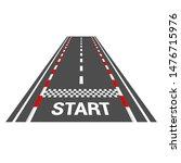 race track with start.vector... | Shutterstock .eps vector #1476715976